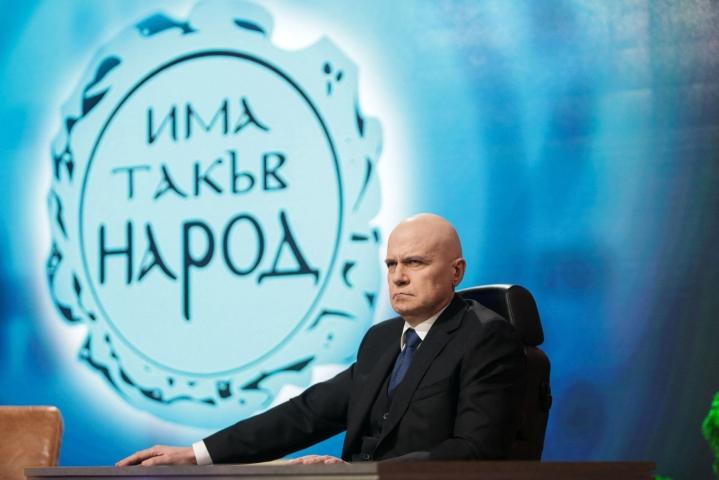 Laulaja ja tv-juontaja Slavi Trifonovin luotsaama ITN-puolue on ottamassa voiton Bulgarian parlamenttivaaleissa. LEHTIKUVA/AFP