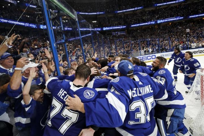 Tampa Bay Lightning voitti NHL:n mestaruuden. LEHTIKUVA/AFP