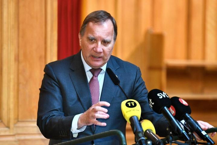 Ruotsin sosiaalidemokraattien johtaja Stefan Löfven yrittää saada maahan uuden hallituksen. Lehtikuva/AFP