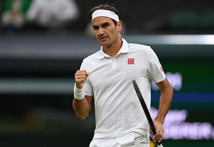 Federer on voittanut Wimbledonin mestaruuden kahdeksan kertaa urallaan. Lehtikuva/AFP