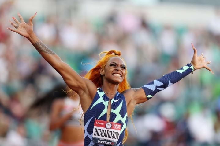 Reutersin lähteen mukaan Richardson antoi positiivisen dopingnäytteen Yhdysvaltain olympiakarsintojen yhteydessä kesäkuussa.  LEHTIKUVA/AFP