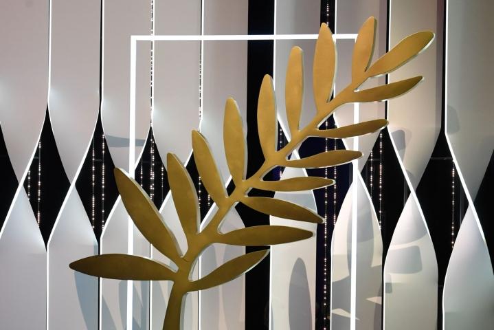 Kultainen palmu jaettiin viimeksi vuonna 2019. LEHTIKUVA / AFP