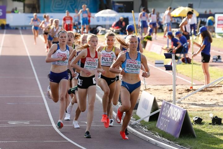 Ilona Mononen kohensi kesäkuussa juoksemaansa ennätystä lähes kaksi sekuntia. LEHTIKUVA / HANDOUT / TAPIO NEVALAINEN / SUL