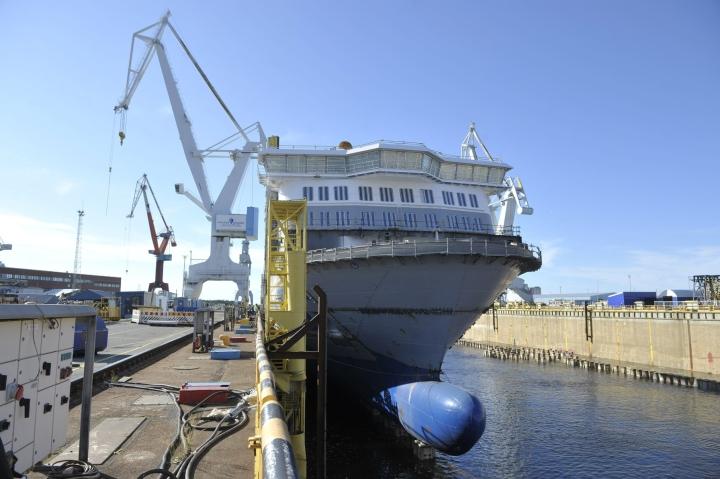 Wasalinen tilaaman Aurora Botnian piti alun perin tulla liikenteeseen jo toukokuussa. LEHTIKUVA / Juha Sinisalo
