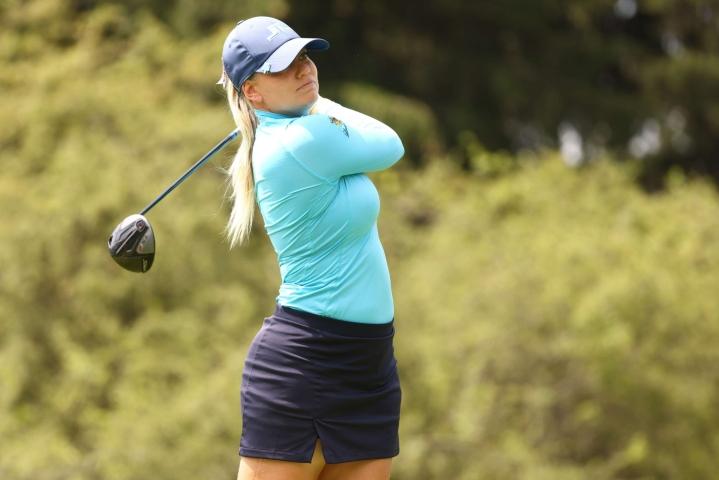 Castren voitti kesäkuussa ensimmäisenä suomalaisena naisten PGA-kiertueen osakilpailun Kaliforniassa. LEHTIKUVA/AFP
