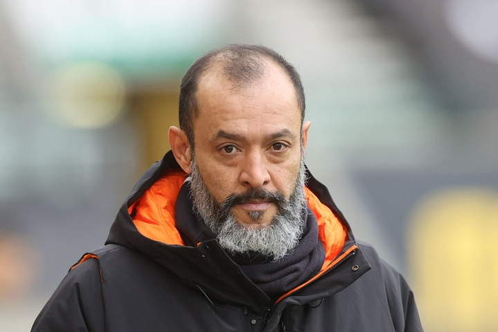 Nuno valmensi päättyneellä kaudella Wolverhamptonia. Lehtikuva/AFP