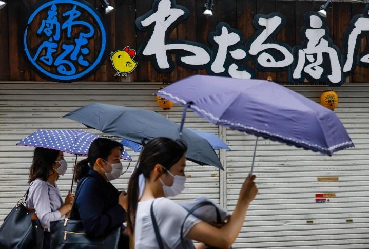 Joitakin olympialaisten kisatapahtumia on siirretty myrskyn takia myöhemmäksi. LEHTIKUVA/AFP