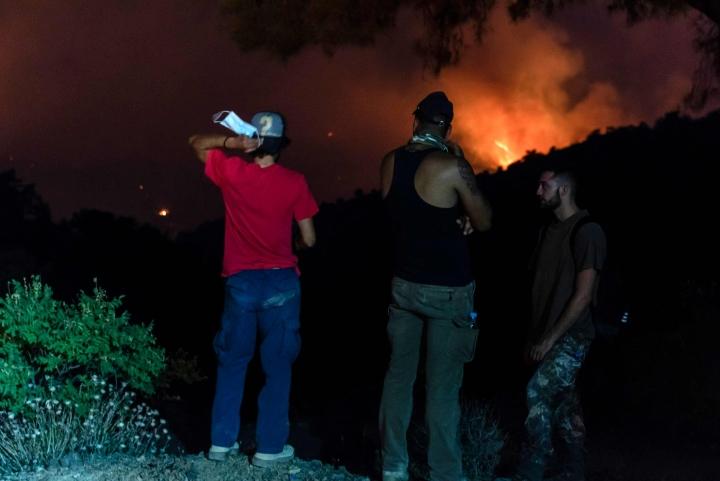 Kyproksen presidentti Nicos Anastasiadesin mukaan metsäpalo on maan pahin vuosikymmeniin. Lehtikuva/AFP