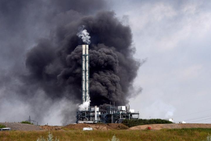 Kemianteollisuuden yritysten keskittymässä Saksan Leverkusenissa räjähti tänään noin kello 10.40 Suomen aikaa. LEHTIKUVA / AFP