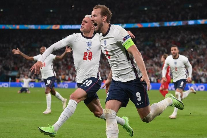 Harry Kane laukoi Englannin EM-finaaliin. LEHTIKUVA/AFP
