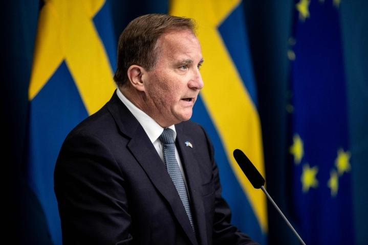 Ruotsin sosiaalidemokraattien Stefan Löfveniä esitetään uudeksi pääministeriksi. LEHTIKUVA/AFP