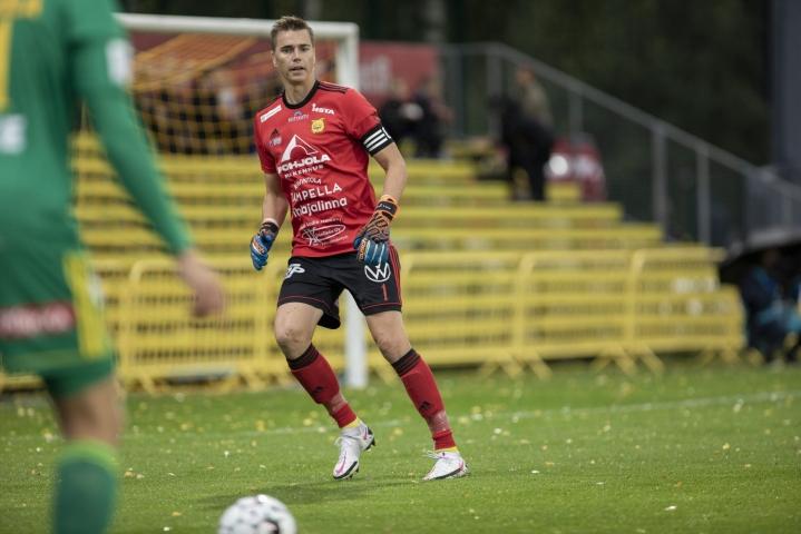 Mika Hilander pelasi vielä viime kaudella Ilveksessä. LEHTIKUVA / Seppo Samuli