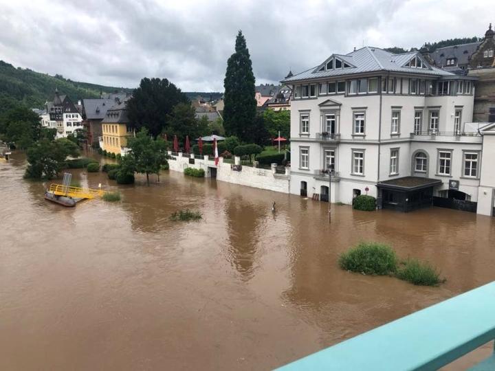 Tolvasen asuinkaupungissa Traben-Trarbachssa vesi nousi pari metriä.
