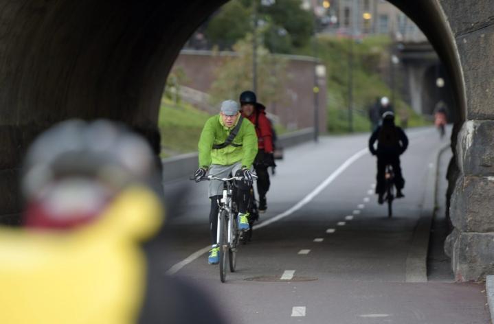 Alkuvuoden kuolleista neljä oli liikkeellä polkupyörällä. Lehtikuva / Martti Kainulainen