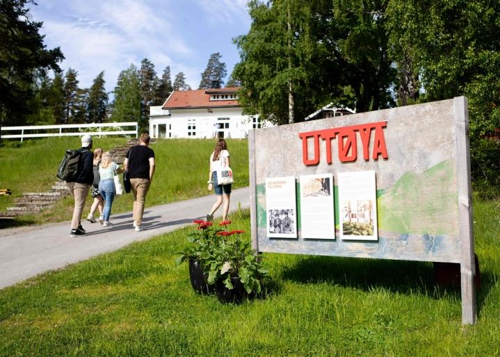 Tänään on kulunut kymmenen vuotta Norjassa Utöyan saarelle tehdystä terrori-iskusta. Kuva on tämän vuoden kesäkuulta. LEHTIKUVA / AFP
