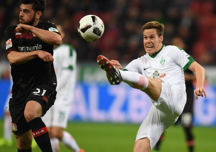 Viisi edelliskautta Moisander edusti Werder Bremeniä Saksan Bundesliigassa. Lehtikuva/AFP