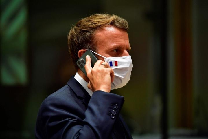 Le Monde raportoi, että Macronin ja14 ministerin puhelinnumerot sisältyivät luetteloon mahdollisista kohteista Pegasus-valvonnalle. Lehtikuva/AFP