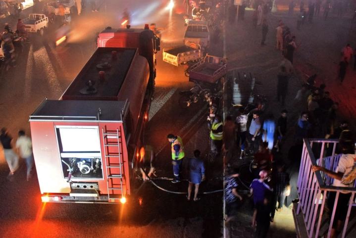 Sairaalan koronaosaston palossa kuoli kymmeniä ihmisiä. Lehtikuva/AFP