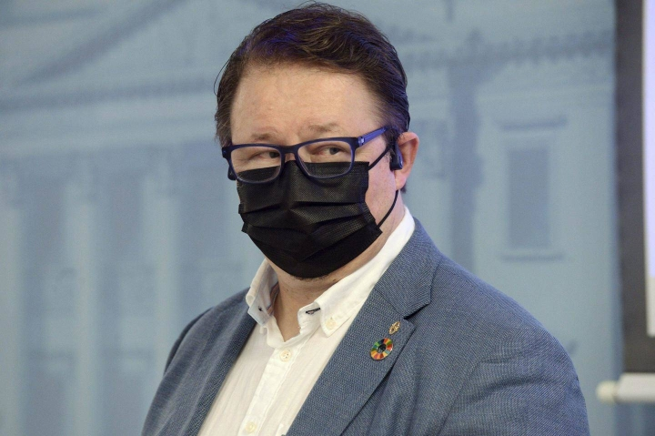 Mika Salminen vieraili Ylen Aamussa. Arkistokuva.