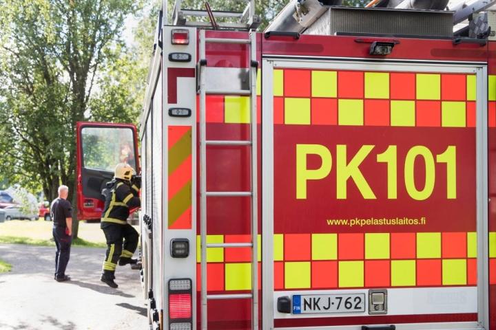 Paikalle lähetettiin pelastushenkilöstöä Enon, Lieksan ja Viekin paloasemilta. Arkistokuva.
