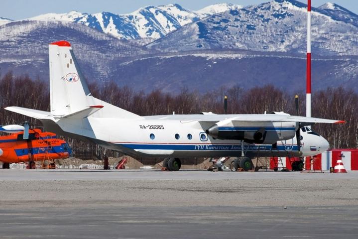 Venäjällä pudonnut kone oli samaa tyyppiä kuin kuvassa oleva Antonov An-26 -lentokone. LEHTIKUVA/AFP