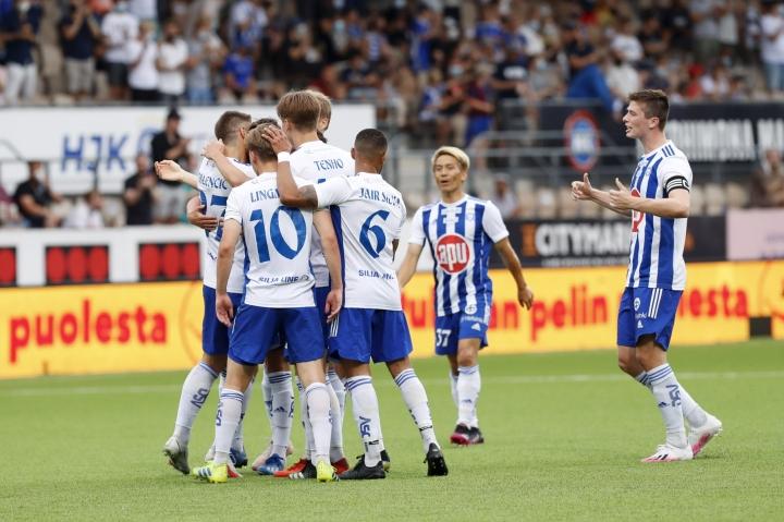 Helsingin Jalkapalloklubi aloitti Mestarien liigan karsinnat voitolla montenegrolaisesta Buducnost Podgoricasta. LEHTIKUVA / Roni Rekomaa