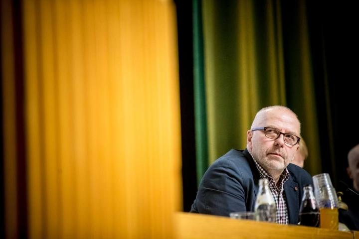 Juha Mustonen Joensuun kaupunginvaltuuston kokouksessa vuonna 2017. Arkistokuva.