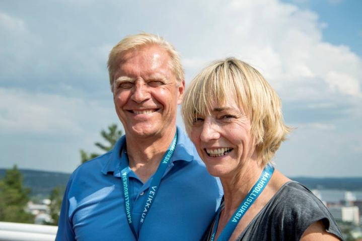 Takavuosien huippu-urheilijat Arto Bryggare ja Heike Drechsler-Bryggare ovat pariskunta. Arkistokuva.