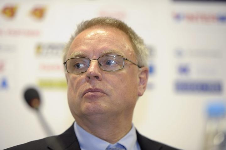 Horst Lichtner on toiminut IIHF:n pääsihteerinä vuodesta 2006. LEHTIKUVA / MARTTI KAINULAINEN