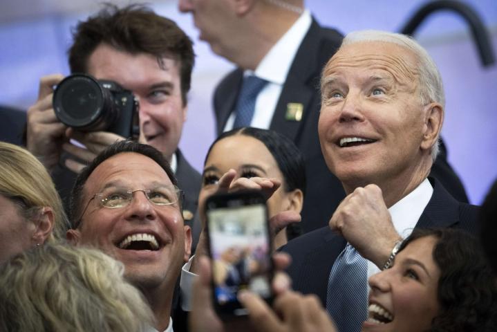 Biden puhui Philadelphiassa. Lehtikuva/AFP