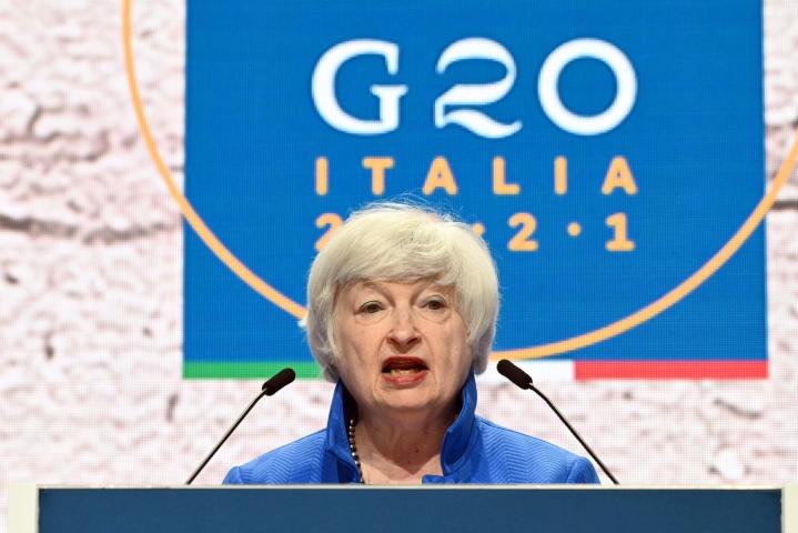 Verokysymys nousee esillä maanantaina Brysselissä, kun euroalueen valtiovarainministerit keskustelevat Yhdysvaltojen valtiovarainministerin Janet Yellenin kanssa. LEHTIKUVA/AFP