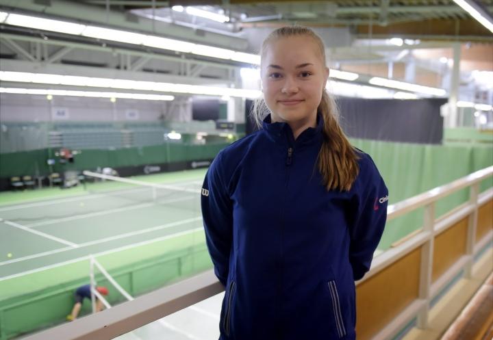 Hietaranta totesi, että Wimbledon on todella hieno paikka pelata. Arkistokuvaa Helsingistä vuodelta 2019. LEHTIKUVA / ANTTI AIMO-KOIVISTO