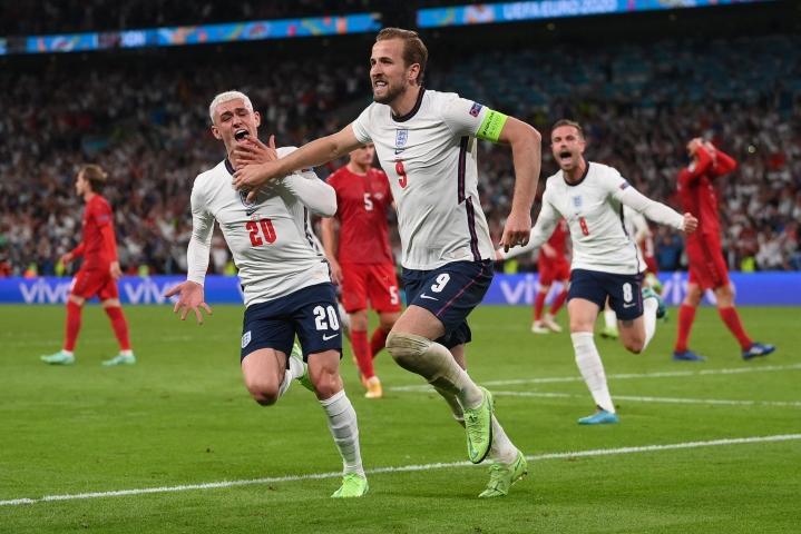 Harry Kane teki Englannin voittomaalin. LEHTIKUVA/AFP