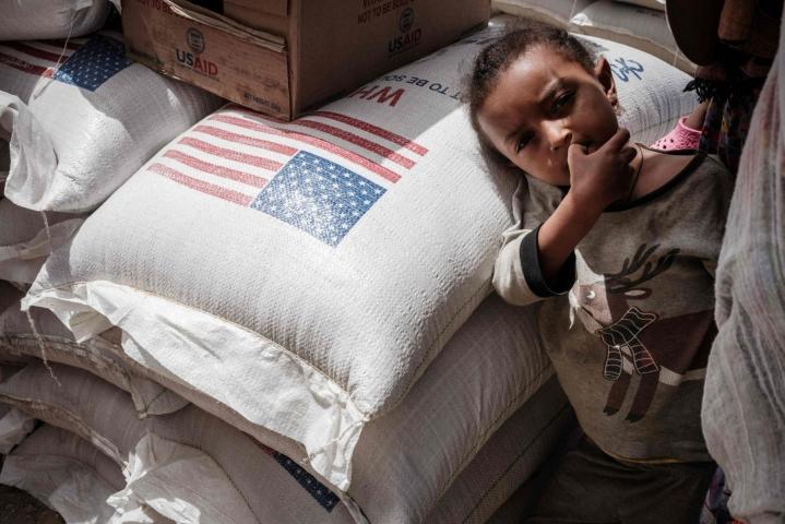 YK arvioi jo kesäkuun alkupuolella, että yli 350000 ihmistä on nälänhädän partaalla Tigrayssa. LEHTIKUVA/AFP