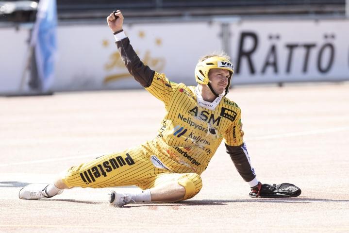 Jere Vikström löi kaksi kunnaria. LEHTIKUVA / Roni Rekomaa