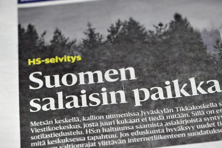 Helsingin Sanomien uutisointia on tutkittu turvallisuussalaisuuden paljastamisena. LEHTIKUVA / TIMO JAAKONAHO