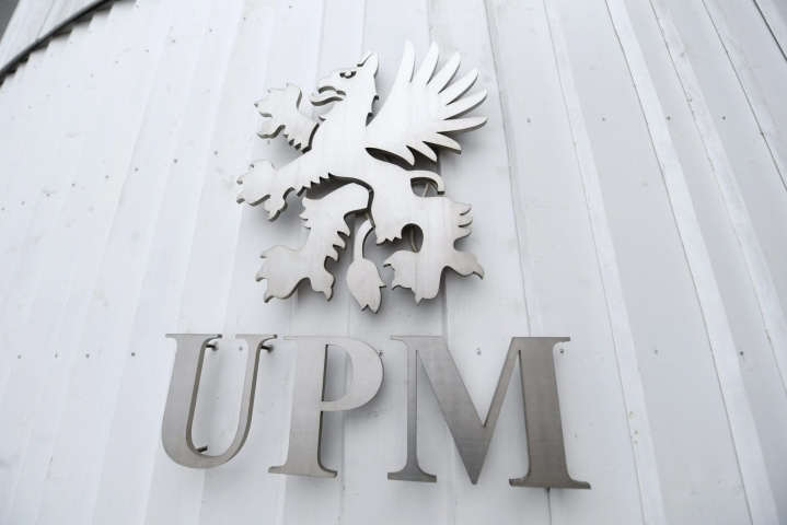 Metsäyhtiö UPM:n vertailukelpoinen liikevoitto kasvoi toisella vuosineljänneksellä puolella. Lehtikuva / Vesa Moilanen