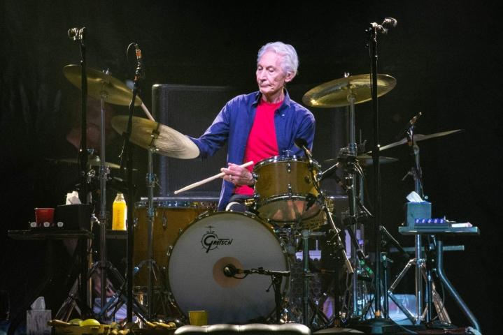 Rolling Stonesin rumpali Charlie Watts on kuollut. Kuva vuodelta 2019. Lehtikuva/AFP