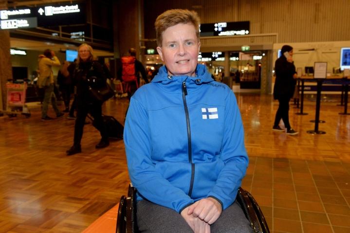 Mitali on 54-vuotiaan siilinjärveläisen kolmas paralympialaisissa. Arkistokuva. Lehtikuva / Mikko Stig