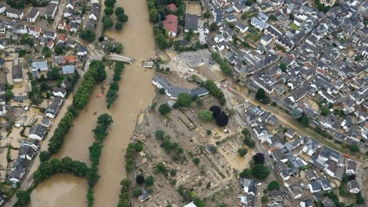 Heinäkuun puolenvälin rankkasateissa ja tulvissa sai surmansa ainakin 220 ihmistä Saksassa ja Belgiassa. LEHTIKUVA / AFP