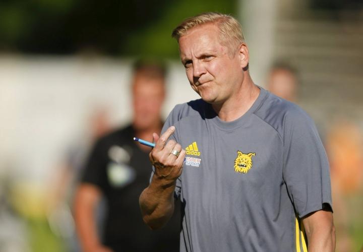 Jarkko Wiss sai lähteä Ilveksen päävalmentajan paikalta. LEHTIKUVA / Kalle Parkkinen