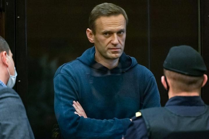 Navalnyi kertoi vankilaoloistaan nyt ensimmäisessä haastattelussaan sen jälkeen, kun hän alkuvuodesta sai vankilatuomion. LEHTIKUVA/AFP