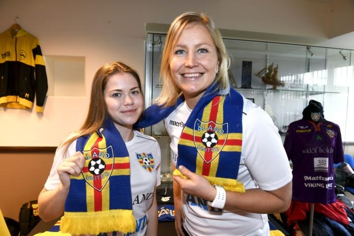 Paula Myllyojan (oik.) toistaiseksi viimeisin seura Suomessa oli Åland United. LEHTIKUVA / Martti Kainulainen