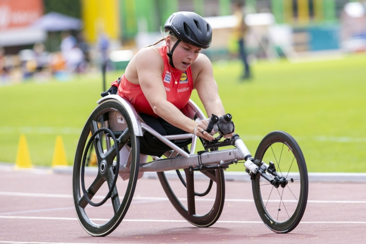 Amanda Kotaja on voittanut urallaan useita MM- ja EM-mitaleita, mutta paralympiamitali häneltä vielä uupuu. LEHTIKUVA / Tommi Anttonen