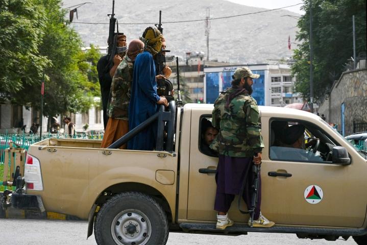 Ääri-islamistinen Taleban otti Afganistanin hallintaansa nopeasti sen jälkeen, kun Yhdysvallat alkoi vetää joukkojaan maasta. LEHTIKUVA/AFP