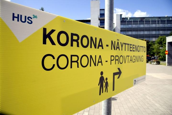 Sairaalahoidossa koronatartunnan vuoksi on 107 ihmistä. LEHTIKUVA / MARKKU ULANDER