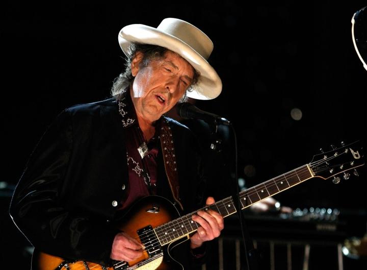 Bob Dylan on sukupolvensa arvostetuimpia muusikoita. Lehtikuva/AFP