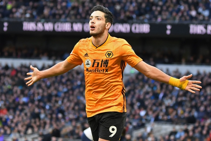 Jimenez on tehnyt Wolverhamptonille 34 liigamaalia kolmen viime kauden aikana. LEHTIKUVA/AFP