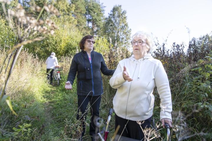 Riitta Immonen ja Eira Parviainen puntaroivat sitä, mitä lapsuuden maisemalle eli Puronsuun alueelle tulisi jatkossa tehdä.