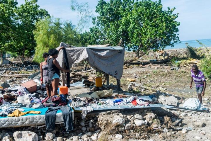 Haitin maanjäristys jätti monet ihmiset kodittomiksi. Lehtikuva/AFP
